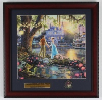 "Thomas Kinkade Walt Disney's ""The Princess & the Frog"" 16x16 Custom Framed Print Display with Pin (See Description) at PristineAuction.com"