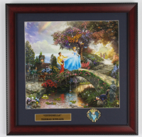 "Thomas Kinkade Walt Disney's ""Cinderella"" 16x16 Custom Framed Print Display with Pin (See Description) at PristineAuction.com"