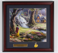 "Thomas Kinkade Walt Disney's ""Snow White & the Seven Dwarfs"" 16x16 Custom Framed Print Display with Pin (See Description) at PristineAuction.com"