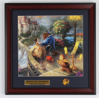 "Thomas Kinkade Walt Disney's ""Beauty & the Beast"" 16x16 Custom Framed Print Display with Pin (See Description) at PristineAuction.com"