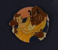 "Thomas Kinkade Walt Disney's ""Beauty & the Beast"" 16x16 Custom Framed Print Display with Pin (See Description) at PristineAuction.com"