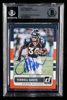 Terrell Davis Signed 2015 Donruss #185 (BGS Encapsulated) at PristineAuction.com
