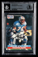 Bruce Matthews Signed 1991 Pro Set #166 (BGS Encapsulated) at PristineAuction.com