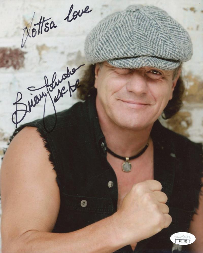 "Brian Johnson Signed 8x10 Photo Inscribed ""Lottsa Love"" & ""AC/DC"" (JSA Hologram) at PristineAuction.com"