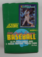 1991 Score Series 1 Baseball Wax Box with (36) Packs (See Description) at PristineAuction.com