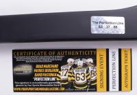 Brad Marchand, Patrice Bergeron, & David Pastrnak Signed Bruins Hockey Stick (YSMS COA) at PristineAuction.com