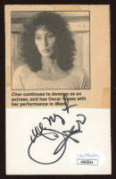 """Cher Signed 3x4.5 Cut Inscribed """"All My Love"""" (JSA COA) at PristineAuction.com"""