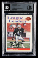 Ronnie Lott Signed 1992 Fleer #462 LL (BGS Encapsulated) at PristineAuction.com