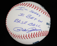 "Pete Rose Signed OML Baseball with Display Case Inscribed ""I'm Sorry I Bet On Baseball"" (Rose Hologram & PSA COA - Graded 10) at PristineAuction.com"