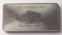 1 Troy Ounce .999 Fine Titanium Bullion Bar at PristineAuction.com