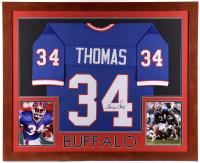 Thurman Thomas Signed 35.5x43.5 Custom Framed Jersey Display (JSA COA) at PristineAuction.com