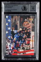 Jim Craig Signed 1995 Signature Rookies Miracle on Ice #48 Celebration (BGS Encapsulated) at PristineAuction.com