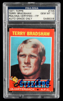 Terry Bradshaw Signed 1971 Topps #156 RC (PSA Encapsulated) at PristineAuction.com