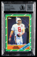 "Steve Young Signed 1986 Topps #374 RC Inscribed ""SB XXIX MVP"" (BGS Encapsulated) at PristineAuction.com"