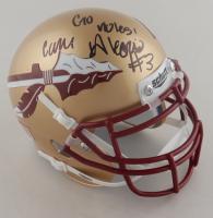 "Cam Akers Signed Florida State Seminoles Mini Helmet Inscribed ""Go Noles!"" (JSA COA) at PristineAuction.com"
