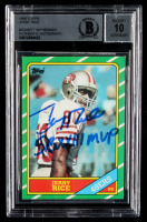 "Jerry Rice Signed 1986 Topps #161 RC Inscribed ""SB XXIII MVP"" (BGS Encapsulated) at PristineAuction.com"
