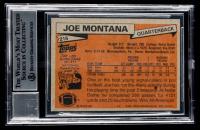 "Joe Montana Signed 1981 Topps #216 RC Inscribed ""HOF 2000"" (BGS Encapsulated) at PristineAuction.com"