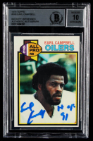 """Earl Campbell Signed 1979 Topps #390 RC Inscribed """"HOF 91"""" (BGS Encapsulated) at PristineAuction.com"""