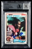 Ronnie Lott Signed 1982 Topps #486 RC (BGS Encapsulated) at PristineAuction.com