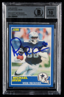 Michael Irvin Signed 1989 Score #18 RC (BGS Encapsulated) at PristineAuction.com