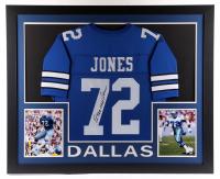 "Ed ""Too Tall"" Jones Signed 35x43 Custom Framed Jersey (JSA COA) at PristineAuction.com"
