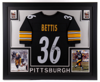 Jerome Bettis Signed 35x43 Custom Framed Jersey Display (Beckett Hologram) at PristineAuction.com