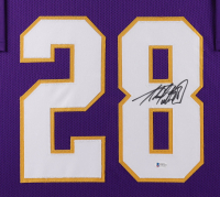 Adrian Peterson Signed 35x43 Custom Framed Jersey Display (Beckett COA) at PristineAuction.com