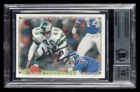 Herm Edwards Signed 2008 UD Masterpieces #39 (BGS Encapsulated) at PristineAuction.com