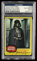 James Earl Jones Signed 1977 Star Wars #183 Dave Prowse as Darth Vader (PSA Encapsulated) at PristineAuction.com