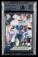 "Daryl Johnston Signed 1996 Leaf #96 Inscribed ""Moose"" (BGS Encapsulated) at PristineAuction.com"