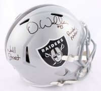 "Darren Waller Signed Raiders Full-Size Speed Helmet Inscribed ""Wall Street"" & ""Raider Nation"" (Beckett COA) at PristineAuction.com"