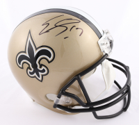 Emmanuel Sanders Signed Saints Full-Size Helmet (Beckett COA) at PristineAuction.com