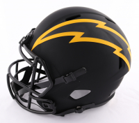 Justin Herbert Signed Chargers Full-Size Eclipse Alternate Speed Helmet (Beckett COA) (See Description) at PristineAuction.com