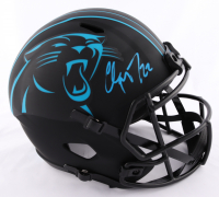Christian McCaffrey Signed Panthers Full-Size Eclipse Alternate Speed Helmet (Beckett COA) (See Description) at PristineAuction.com