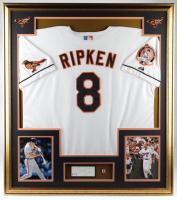 Cal Ripken Jr. Signed 32x36 Custom Framed Cut Display with Ripken #8 Pin (PSA COA) at PristineAuction.com
