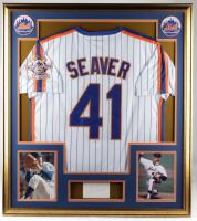 Tom Seaver Signed 32x36 Custom Framed Cut Display (BGS) at PristineAuction.com