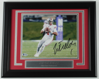 Justin Fields Signed Ohio State Buckeyes 13.5x16.5 Custom Framed Photo Display (Beckett COA) at PristineAuction.com