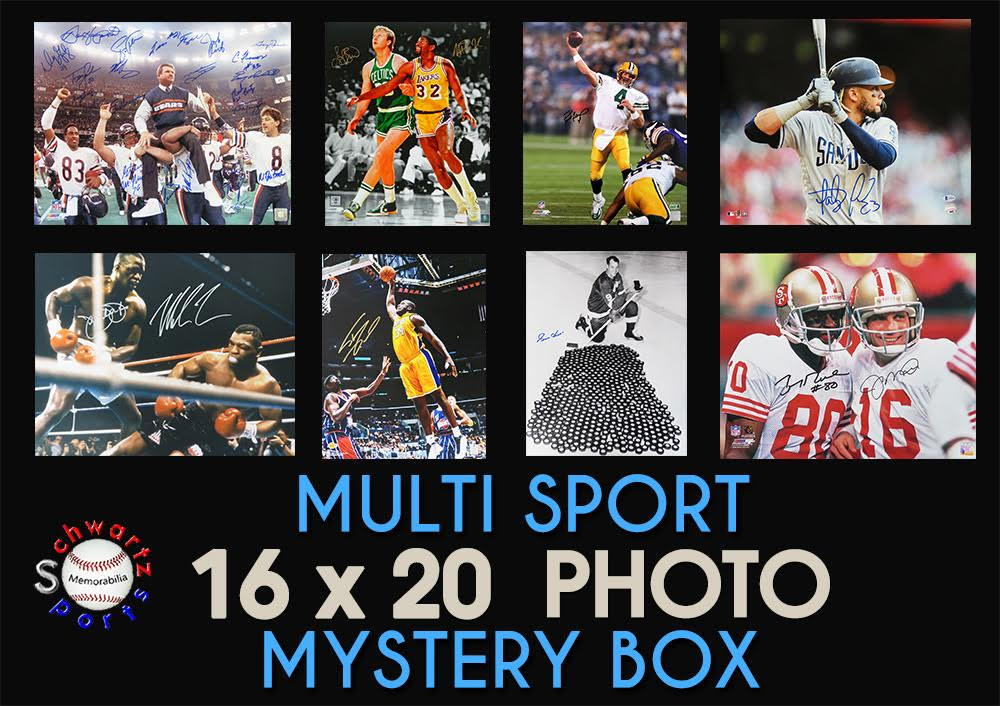 Schwartz Sports Multi Sport Signed 16x20 Photo Mystery Box – Series 8 (Limited to 150) at PristineAuction.com