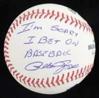 "Pete Rose Signed OML Baseball Inscribed ""I'm Sorry I Bet On Baseball"" (Beckett COA & Fiterman Sports Hologram) at PristineAuction.com"