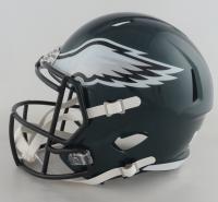 """Chris Long Signed Eagles Full-Size Speed Helmet Inscribed """"SB 52 Champs"""" (JSA Hologram) at PristineAuction.com"""