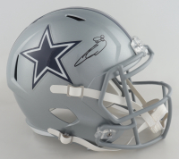 CeeDee Lamb Signed Cowboys Full-Size Speed Helmet (Fanatics Hologram) at PristineAuction.com