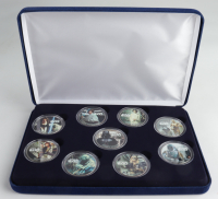 "LE ""Star Wars"" Commemorative Coin Set with (9) Coins & Display Case at PristineAuction.com"