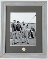 Jack Nicklaus, Sam Snead & Arnold Palmer 13.5x16 Custom Framed Photo Display with Masters Pin at PristineAuction.com