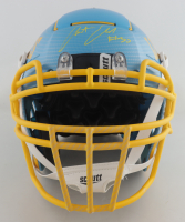 Austin Ekeler Signed Full-Size Authentic On-Field Hydro-Dipped F7 Helmet (Schwartz Hologram) at PristineAuction.com