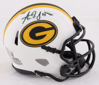 Aaron Jones Signed Packers Lunar Eclipse Alternate Speed Mini Helmet (Beckett Hologram) at PristineAuction.com
