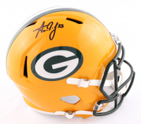 Aaron Jones Signed Packers Full-Size Speed Helmet (Beckett Hologram) at PristineAuction.com