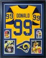 Aaron Donald Signed 34x42 Custom Framed Jersey (JSA COA) at PristineAuction.com