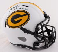 "Aaron Jones Signed Packers Full-Size Lunar Eclipse Alternate Speed Helmet Inscribed ""Go Pack Go"" (Beckett Hologram) at PristineAuction.com"