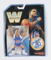 """Kurt Angle Signed WWE Retro Series 2018 Mattel Action Figure Inscribed """"96 Olympic Gold"""" (PSA COA) (See Description) at PristineAuction.com"""