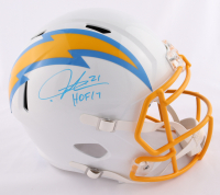 "LaDainian Tomlinson Signed Chargers Full-Size Speed Helmet Inscribed ""HOF 17"" (Beckett COA) at PristineAuction.com"